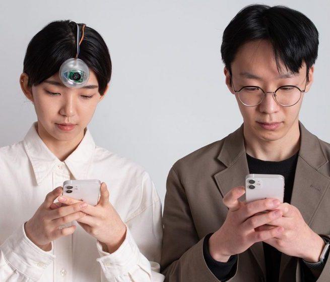 Корейский студент создал «третий глаз» для смартфонозависимых